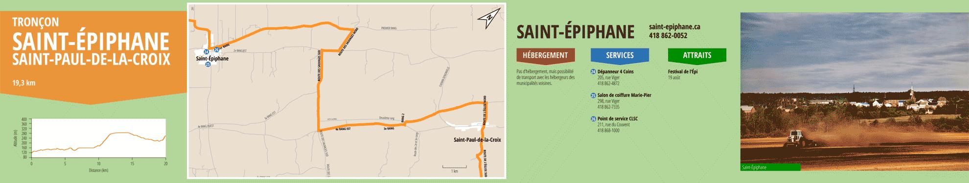 La Route des passants - Tronçon Saint-Épiphane/Saint-Paul-de-la-Croix