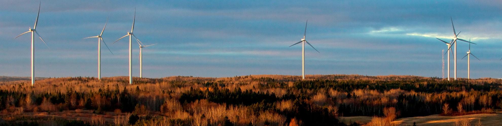 Hero - Éolieennes (Photo : © Crédit photo - Parc éolien communautaire Viger)